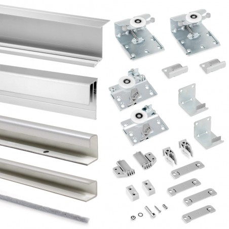 antideragliamento e con profili in alluminio cromato