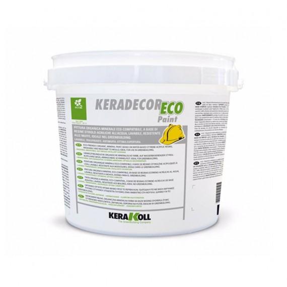 Pittura a base di resine stirolo-acriliche Kerakoll Keradecor Eco Paint 14 lt 23068 bianco