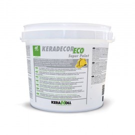 Pittura a base di resine stirolo-acriliche Kerakoll Keradecor Eco Super Paint 14 lt 23306 bianco
