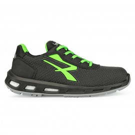 Scarpe antinfortunistiche U Power STRONG S3 CI SRC ESD nero/verde