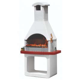 Barbecue A Carbonella In Refrattario 98 x 65 x h 205 Cm Monterey Sunday