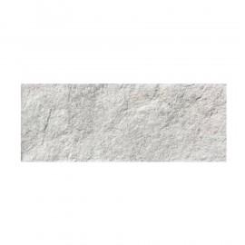 Rivestimento grès porcellanato 16 x 42 cm effetto pietra bianca Talbignano Bianco