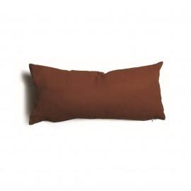 Cuscino rettangolare da salotto 30x60 cm Tulipano Marrone
