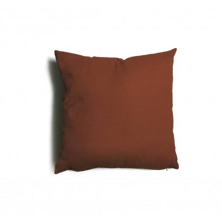 Cuscino quadrato da salotto 43x43 cm Tulipano Marrone
