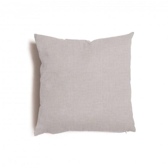 Cuscino quadrato da salotto 57x57 cm Tulipano Grigio