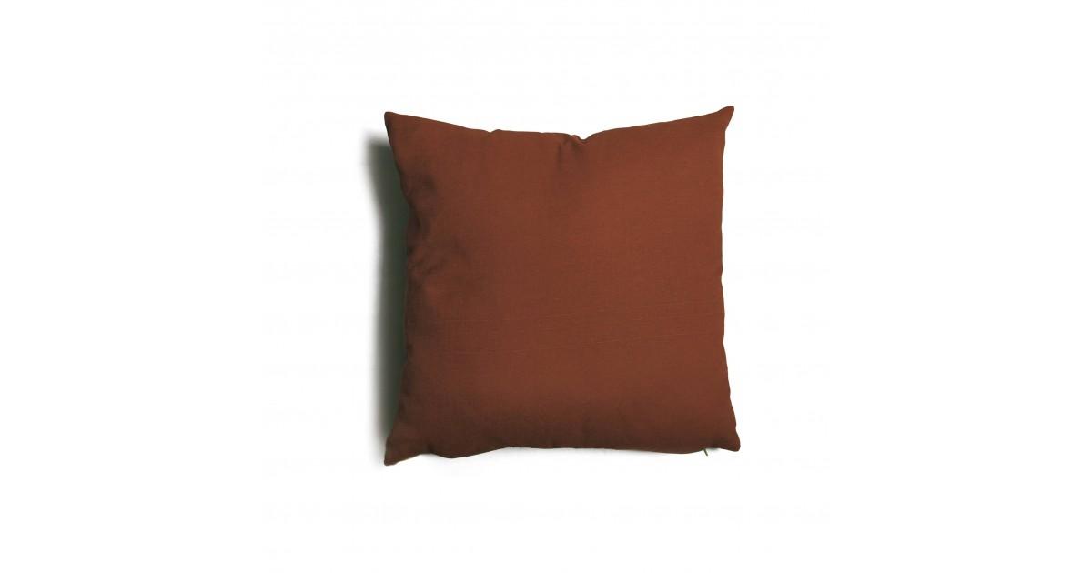 Cuscino quadrato da salotto 57x57 cm Tulipano Marrone