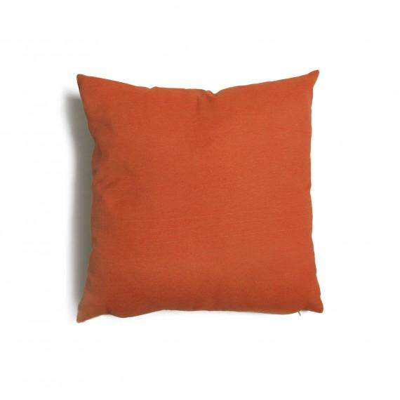 Cuscino quadrato da salotto 57x57 cm Tulipano Ruggine
