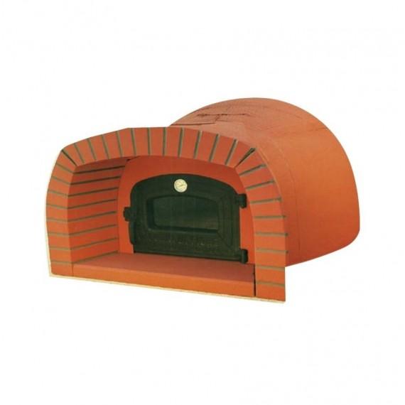 Forno a legna prefabbricato 125 x 90 cm con cappetta mod. 10D Di Fiore Forni