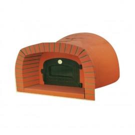 Forno a legna prefabbricato 110 x 110 cm con cappetta mod. 10TS Capri Di Fiore Forni