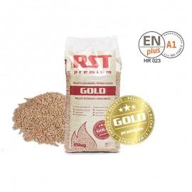 Bancale 65 sacchi da 15 kg Pellet di faggio poco abete EN PLUS A1 RST Premium Gold