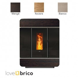 Klover DIVA SLIM WOOD Termostufa a pellet in legno massello 18,4 kW