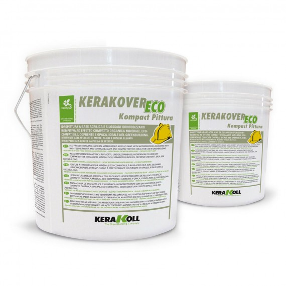 Idropittura a base acrilica Kerakoll Kerakover Eco Kompact Pittura 14 lt 31454 bianco