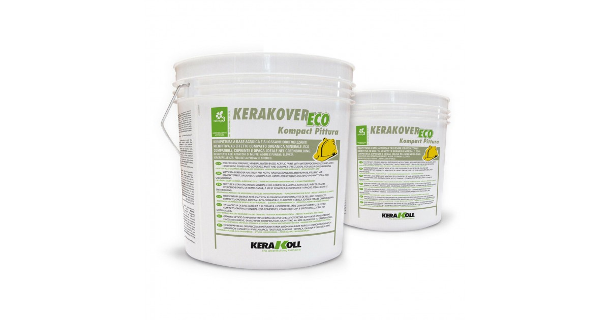 Idropittura a base acrilica Kerakoll Kerakover Eco Kompact Pittura 4 lt 31455 bianco