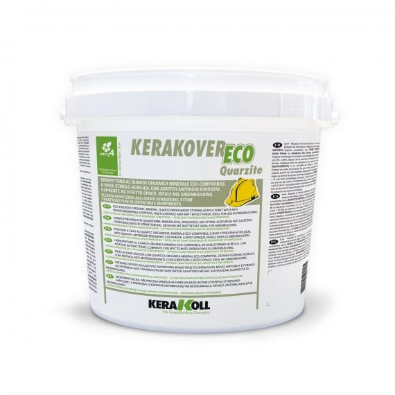 Idropittura al quarzo Kerakoll Kerakover Eco Quarzite 4 lt 20138 bianco