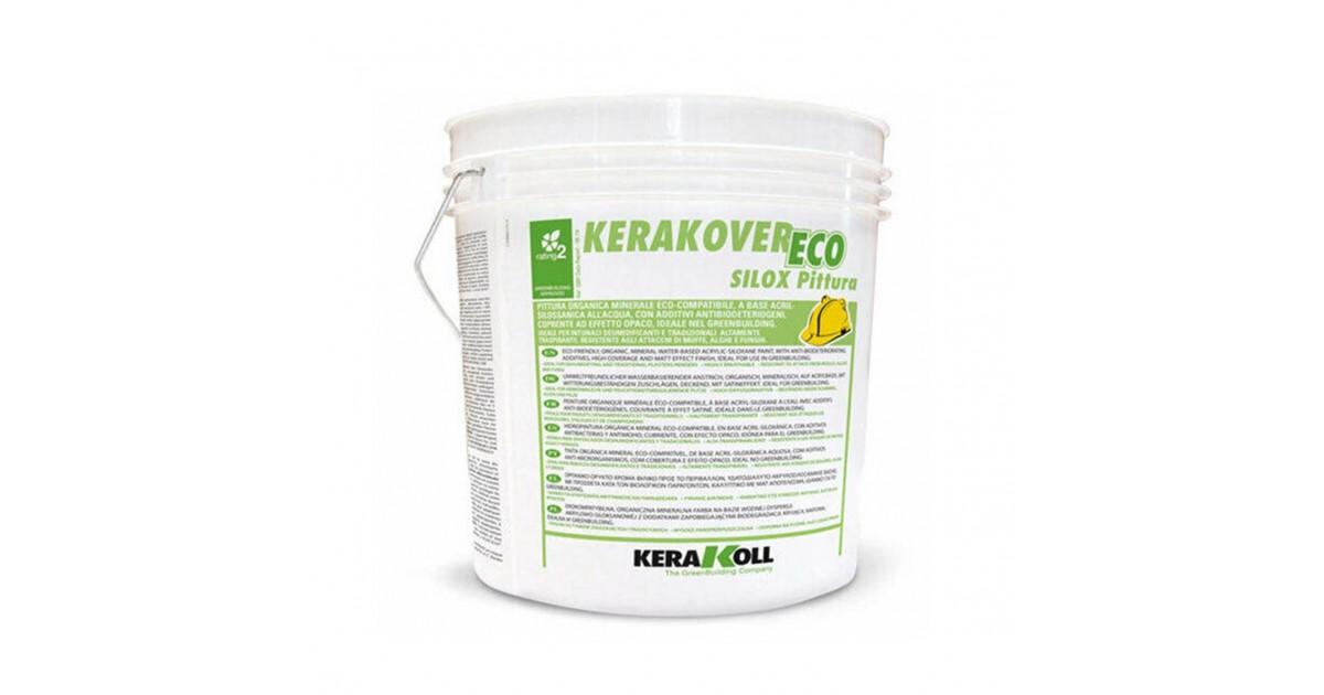 Pittura a base acril-silossanica Kerakoll Kerakover Eco Silox Pittura 14 lt 21685 bianco