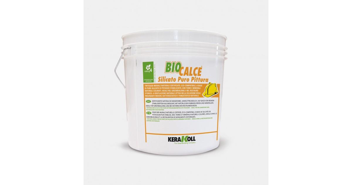 Pittura a base di puro silicato Kerakoll Biocalce Silicato Puro Pittura 14 lt 12742 bianco