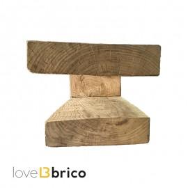 Pensile in legno massello di castagno 120 x 32 cm
