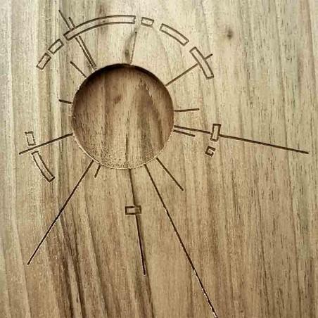 Tagliere in legno massello di castagno 24,5 x 13,5 x 1,5 cm