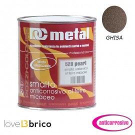 Smalto al ferro micaceo 0,75 lt Colore Ghisa - Metal 528 Pozzi