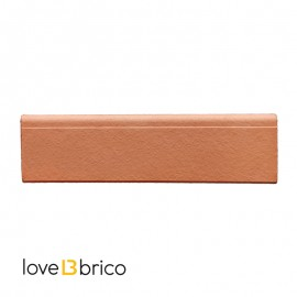 Battiscopa in cotto trattato 8 x 30 cm Rosato Natura Kwikdry Cotto Furnò