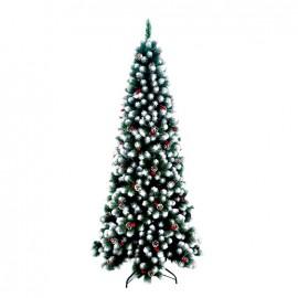 Albero di natale artificiale decorato altezza 240 cm Parigi