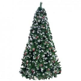 Albero di natale artificiale decorato altezza 180 cm Cortina