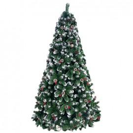 Albero di natale artificiale decorato altezza 210 cm Cortina