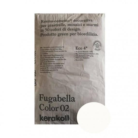 Fugante Kerakoll Fugabella Color 02 bianco 20 kg 16070