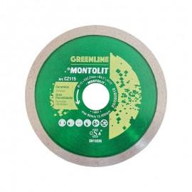 Disco diamantato per grès porcellanato 115 x 22,23 mm Montolit Cermont CZ115