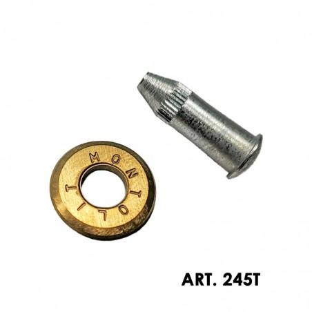 Rotella di incisione originale Montolit Titanium Gold per Piuma/Mini 245T