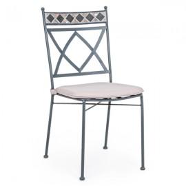 Sedia da esterno in ferro e mosaico con cuscini da arredo giardino Bizzotto Berkley