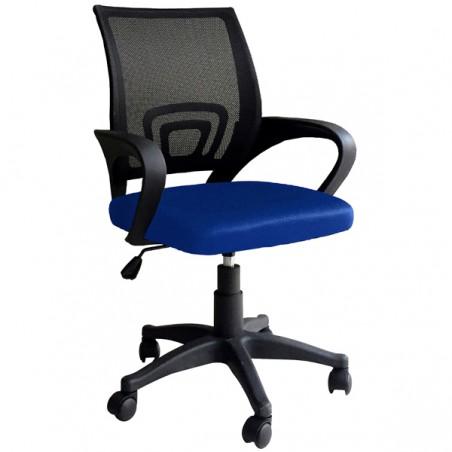 Sedia girevole ergonomica per scrivania arredo ufficio Genius Blu