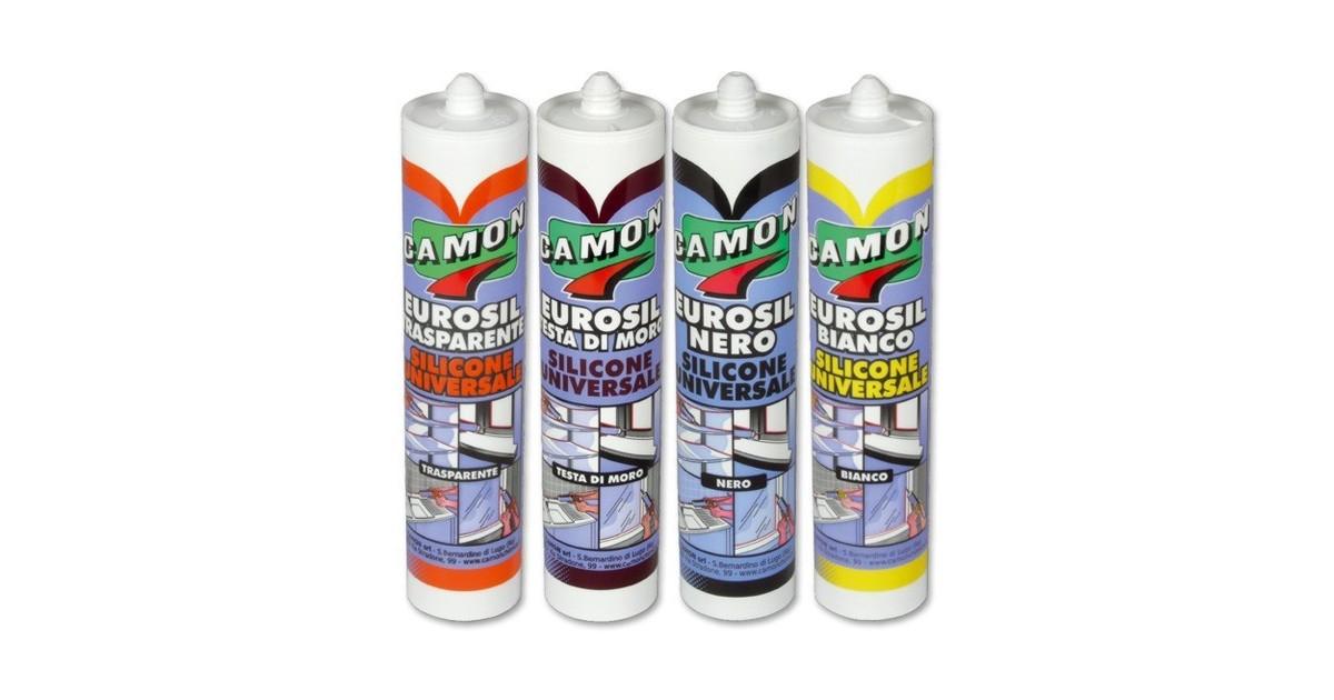 Silicone acetico universale Camon EUROSIL 280 ml 120404 bianco
