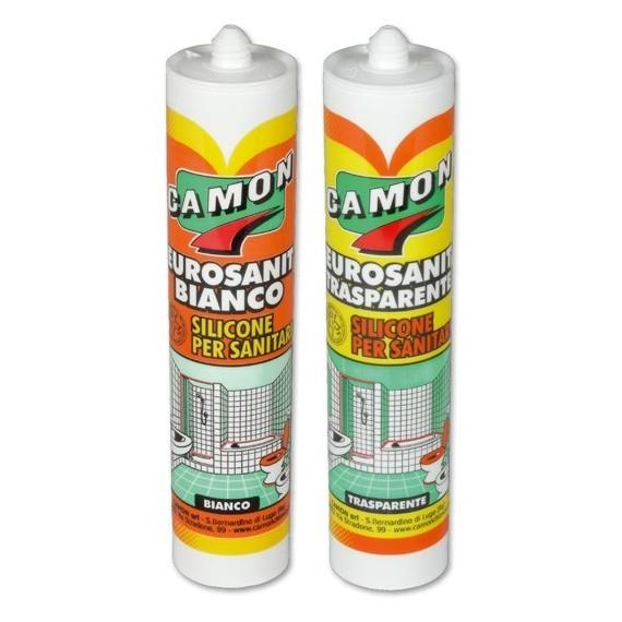 Silicone acetico idrosanitario Camon EUROSANIT 280 ml 120501 bianco