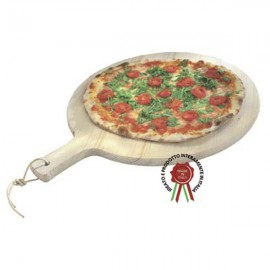 Tagliere Per Pizza In Legno Massello Di Abete Rotondo 34 Cm Made In Italy