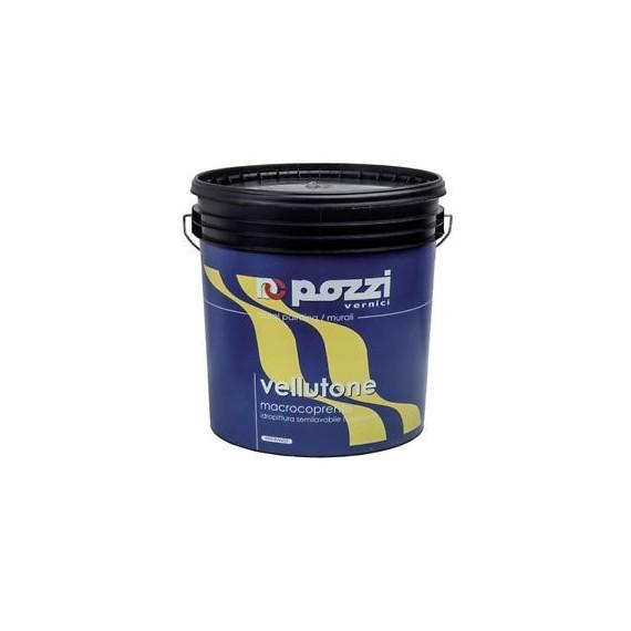 Pittura semilavabile traspirante Pozzi Vellutone 4 lt 12030-4 bianco