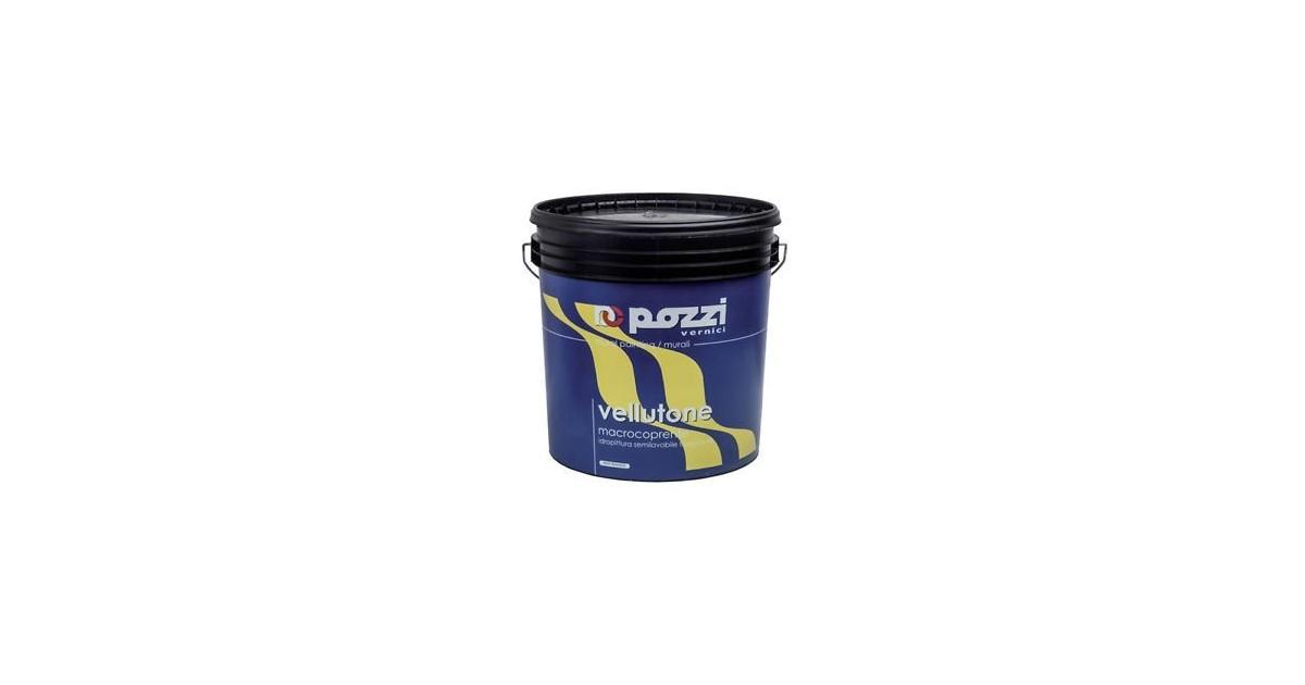 Pittura semilavabile traspirante Pozzi Vellutone 14 lt 12030-14 bianco