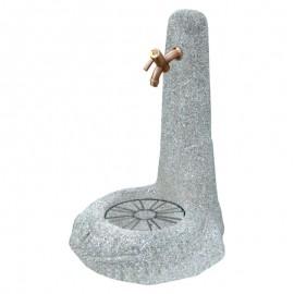 Fontana In Lavato Da Giardino Sasso Grigio Completa Di Griglia E Rubinetto 48x52xH70 Cm