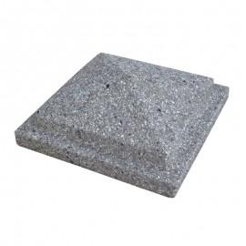 Copripilastro A Piramide Brecciato Grigio 40x40 Cm Quadrato Bardiglio Bonfante