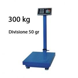 Bilancia Bilico 300 kg Digitale A Piattaforma In Acciaio 50x40 Cm Con Display LCD Bascula