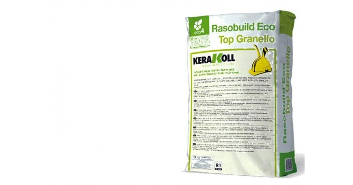 Rasante Kerakoll Rasobuild Eco Top Granello 25 kg 10320 bianco