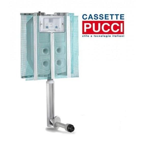 Cassetta incasso pulsante alto (2 pulsanti 9 lt - 4 lt) Pucci ECO 1315490001 + placca