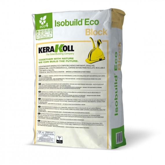 Collante & Rasante per blocchi in calcestruzzo cellulare Kerakoll Isobuild Eco Block 25 kg 01056