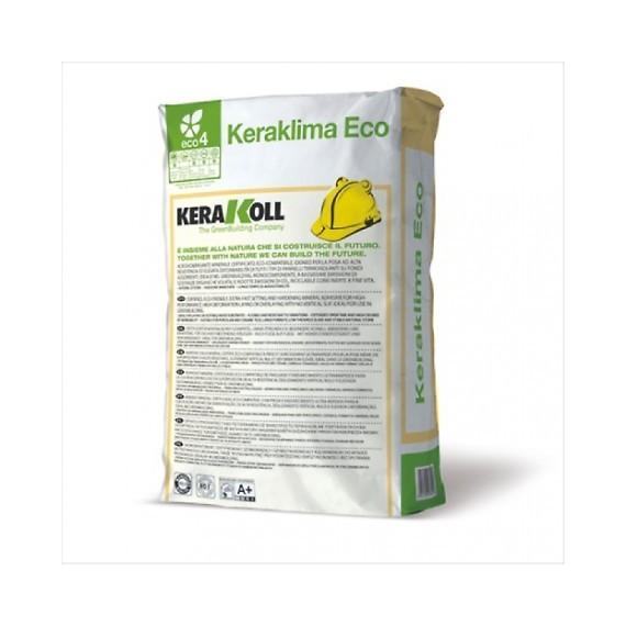 Collante & Rasante per pannelli termoisolanti Kerakoll Keraklima Eco 25 kg 02222 grigio