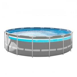Piscina Fuori Terra Con Accessori Ø 4,88 x 1,22 m Prism Frame Clearview Intex 26730 Premium
