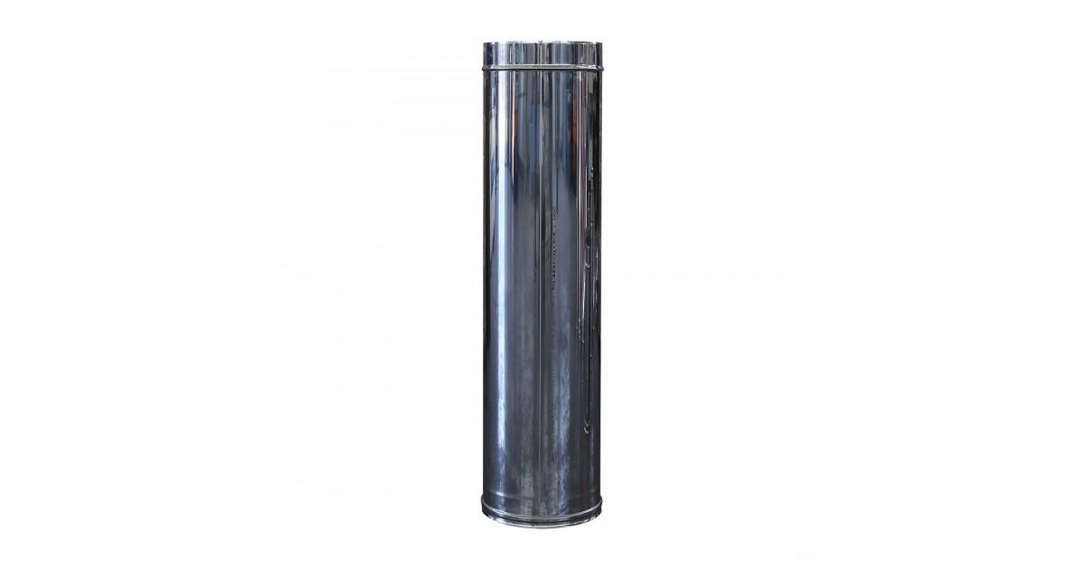 Tubo monoparete in acciaio inox AISI 304 da 1000 mm per canna fumaria