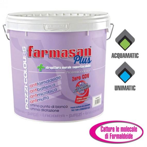 Pittura Antimuffa Bianca Per Interni Super Lavabile E Antibatterica Farmasan Plus