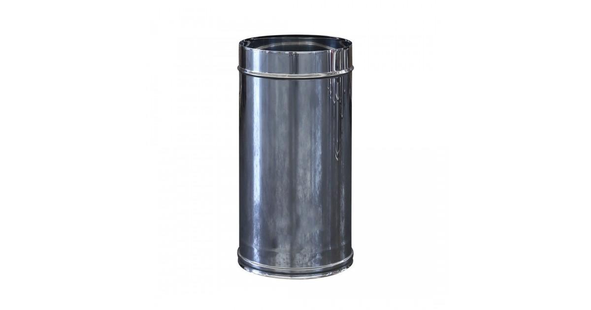 Tubo monoparete in acciaio inox AISI 304 da 500 mm per canna fumaria