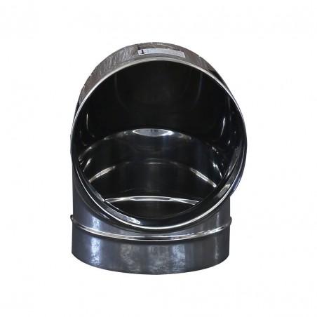 Curva 90° monoparete in acciaio inox AISI 304 per canna fumaria