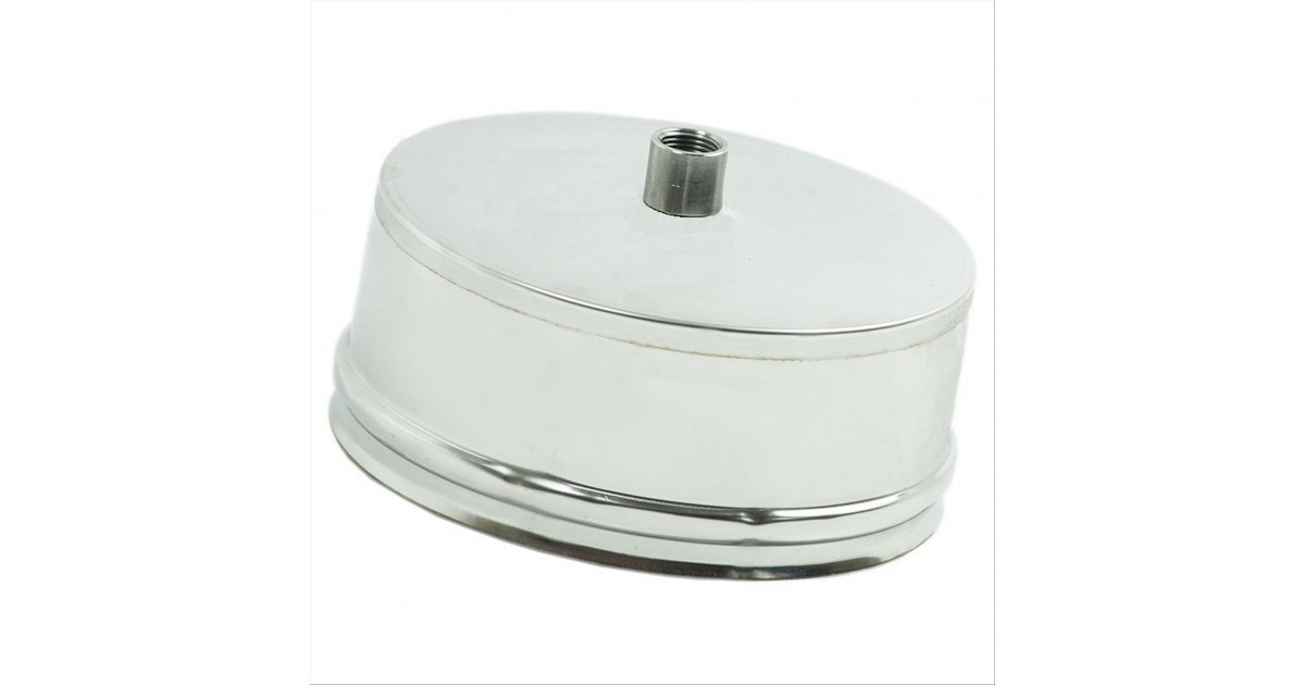 Tappo condensa monoparete in acciaio inox AISI 304 per canna fumaria